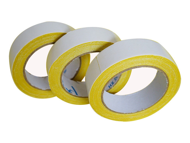 Yellow Waterproof Double Sided Carpet Tape , 2 Inch Double Sided Tape Hot Melt