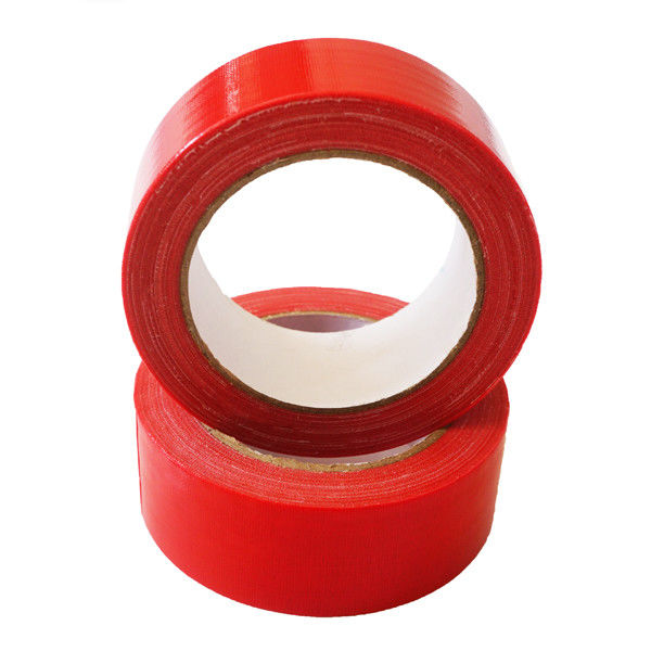 Red Decorative Wide Duct Tape 12 Inch Easy Tear Cloth No Adhesive Residue