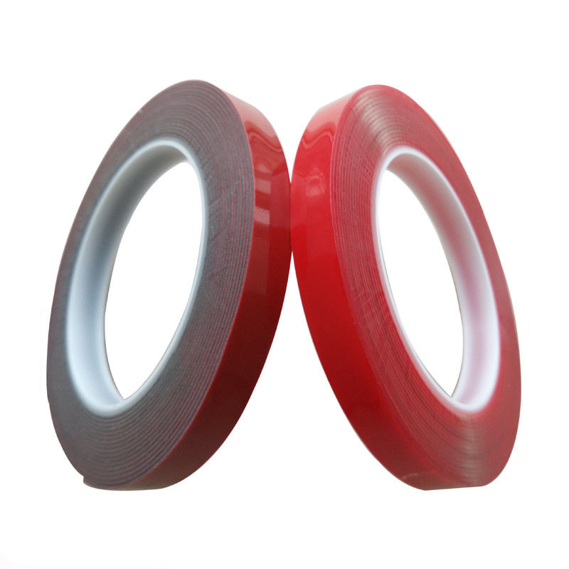 90°C Heat Resistant VHB Acrylic Foam Tape Moisture Proof Clear / Red Color