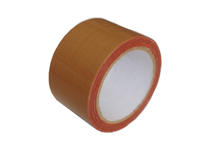 Chocolate Brown Cloth Duct Tape Oil Resistant Hot Melt Adhesive For Carpet Joint