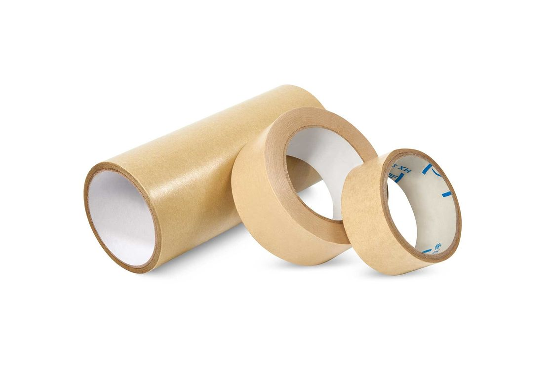 Brown Reinforced Paper Packing Tape Heat Resistant Fit Sealing Packaging